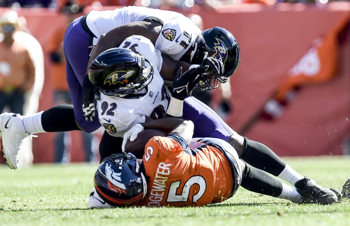 Teddy Bridgewater Denver Broncos concussion protocol head injury Ravens