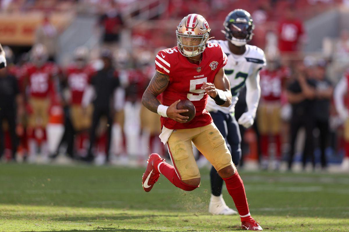 Trey Lance Nienrs QB 49ers Starter Week 5 quarterback San Francisco