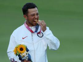 Xander Schauffele will look to recapture his Olympic golf medal form as he prepares to play in the Zozo Championship in Japan this weekend. (Image: Getty)