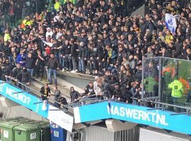 Tens of Vitesse fans collapsed with the stand beneath them as they celebrated the 1-0 win over NEC in the Dutch Eredivisie. (Image: Twitter/awaydays23)