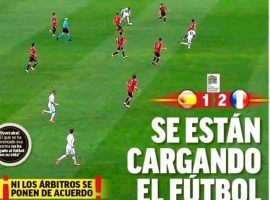 Spanish players, fans, and journalists were unhappy with the referees' decision to validate Mbappe's goal in the 80th minute. (Image: marca.com)