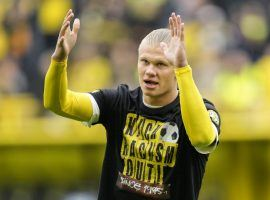 Erling Haaland will be out for up to two weeks with injury, Dortmund have confirmed. (Image: Twitter/elmundodeportes)