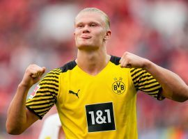 Erling Haaland scored seven goals for Borussia Dortmund since the start of the German season. (Image: Twitter/actufoot_)
