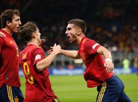 Ferran Torres scored Spain's both goals, as La Roja came out 2-1 winners against Italy in the Nations League semifinals on Wednesday. (Image: Twitter/sefutbol)
