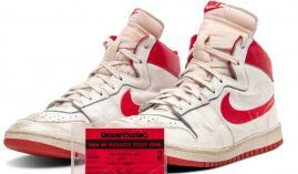 Michael Jordan wore these sneakers during his fifth game with the Chicago Bulls. The Air Ships were the precursor to the Air Jordan 1, and were banned by the NBA.