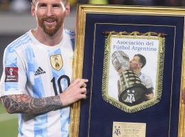 Leo Messi scored 80 goals for Argentina, an unmatched record in South America. (Image: Twitter/cbssportsgolazo)